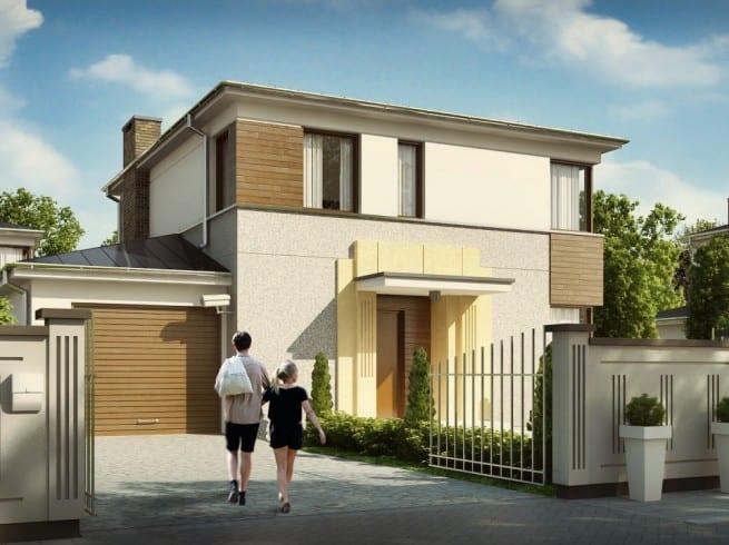 Dailyproject proiectul 074 dailyproject proiect de for Case cu etaj si garaj