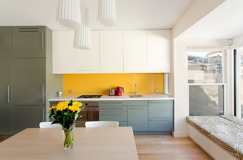 Contemporary-kitchen-in-white-yellow-and-gray